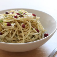 Pomegranate and goat's cheese pasta