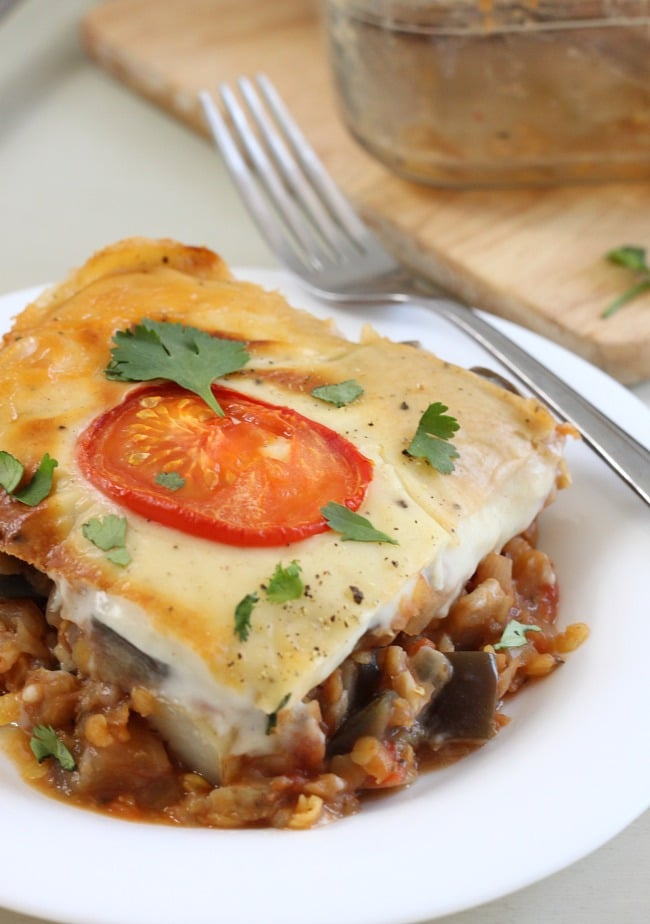Vegetable moussaka casserole - a much quicker and easier way to make a ...