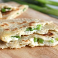 Cheese and onion stuffed flatbreads