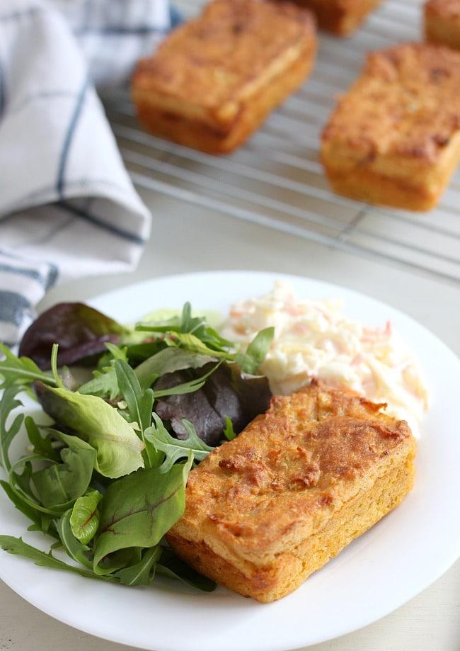 Mini cheesy lentil loaves