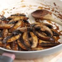 Portobello 'steak' strips