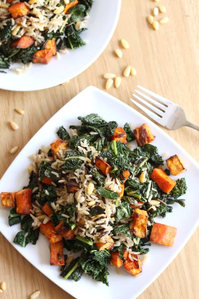 Wild rice and kale salad with smoky sweet potatoes - Amuse ...