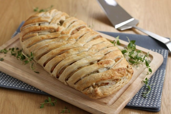 Cheese and onion plait