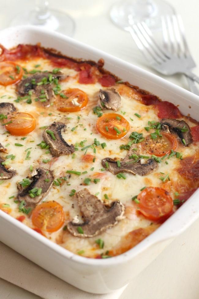 Pizza baked gnocchi