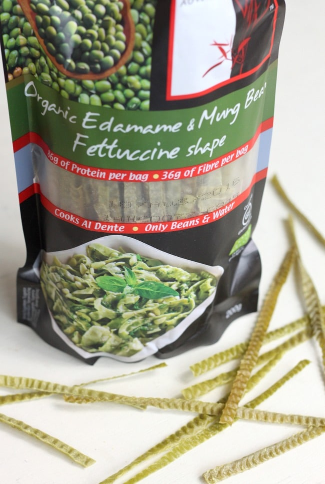 Bean noodles - made only with beans and water, these make a great gluten free alternative to pasta!