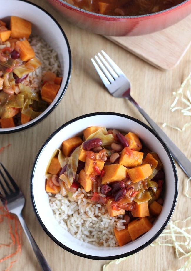 Caribbean-style sweet potato stew