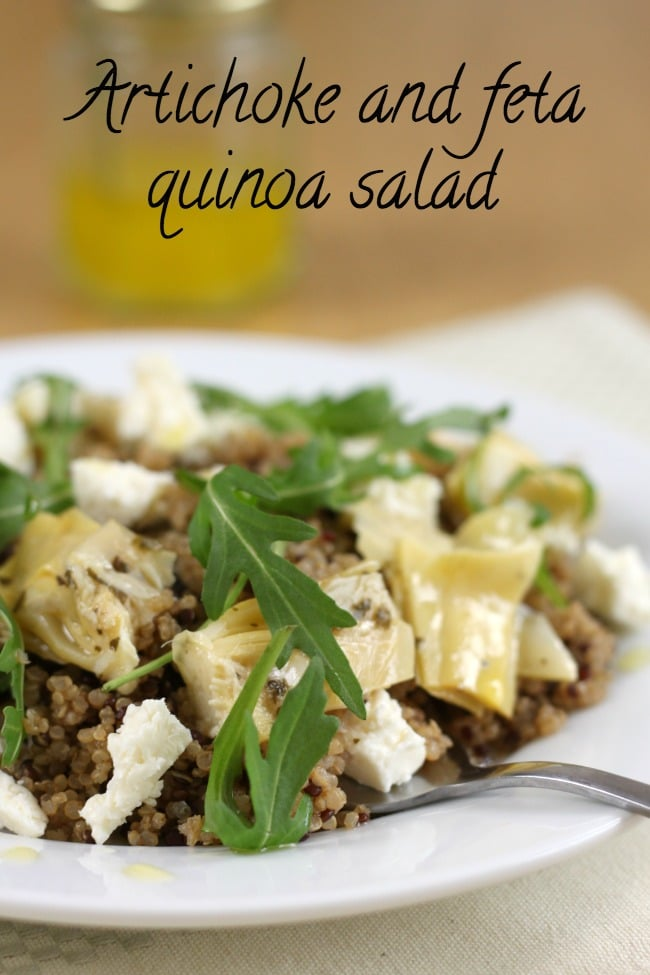 Artichoke and feta quinoa salad
