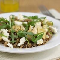 Artichoke and feta quinoa salad