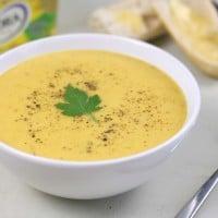 Extra creamy leek and potato soup