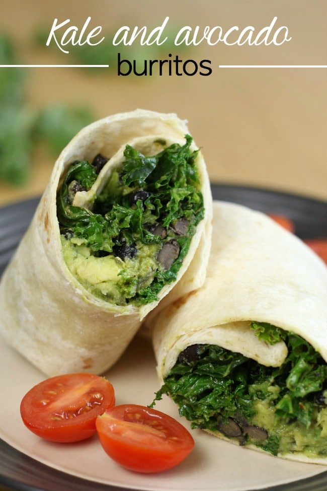 Kale And Black Bean Burritos Recipes — Dishmaps