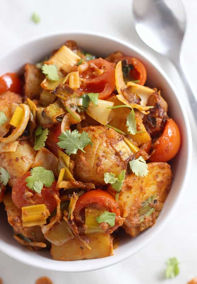 Roasted potato tikka masala
