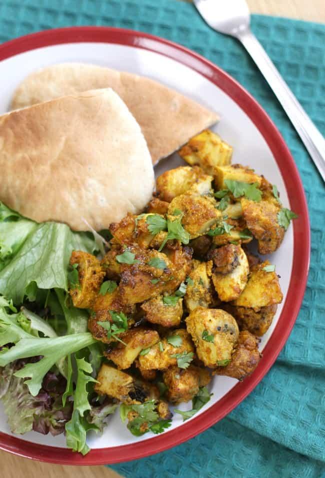 Tikka mushrooms - plus loads of other vegetarian lunch ideas!