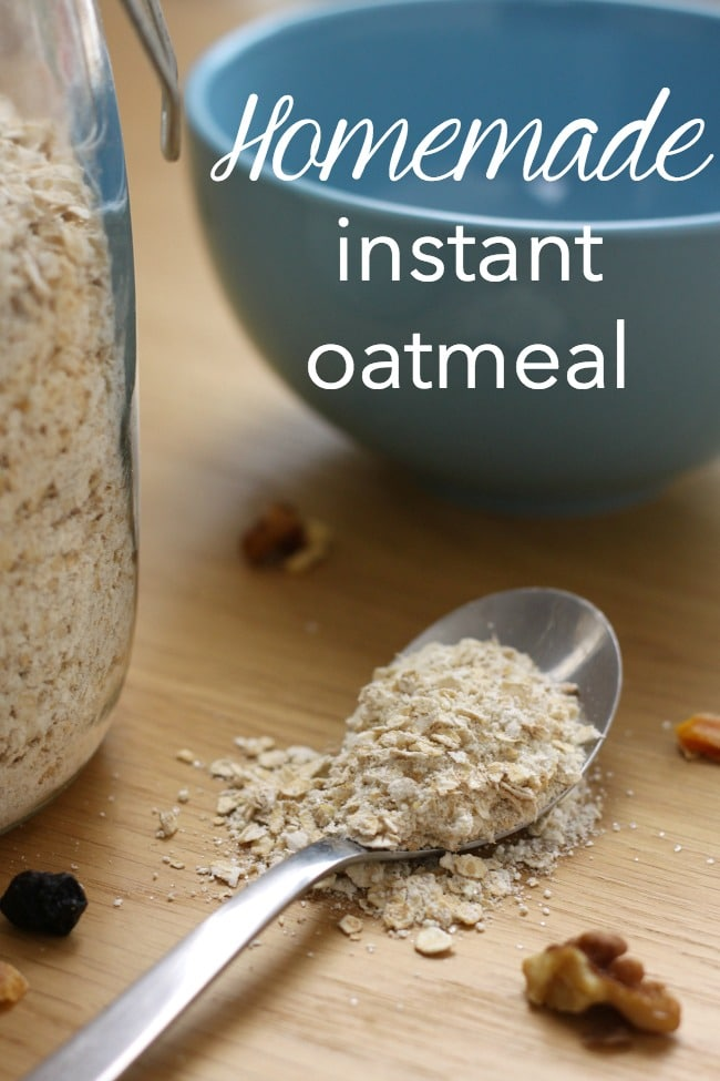 Homemade instant oatmeal - only three ingredients, and less than a third of the price of the shop-bought stuff! Have breakfast ready in seconds (my favourite is with a dollop of chocolate spread!)