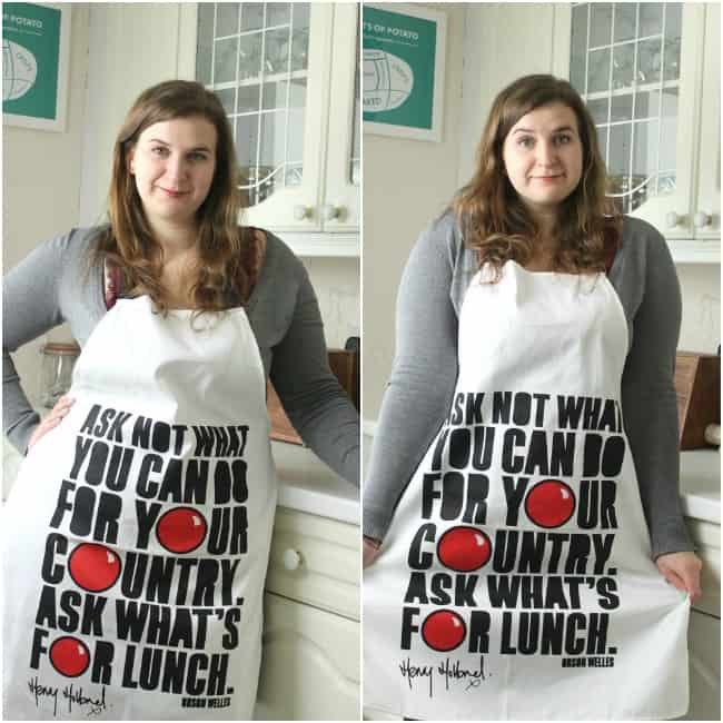 Red Nose Day apron 3