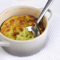 Cheesy avocado soufflé