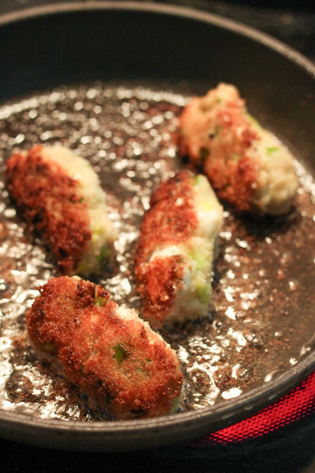 Leek and feta croquettes - these are basically FRIED BECHAMEL SAUCE. They are ridiculous, but SO good!