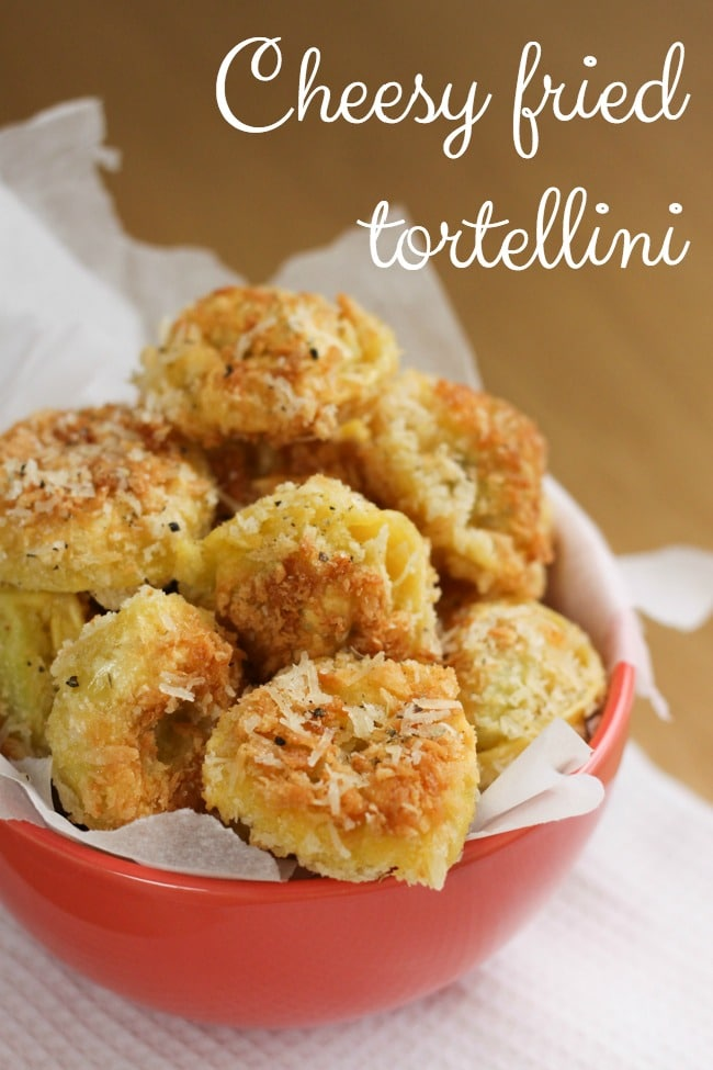 Cheesy fried tortellini - an unbelievably tasty appetiser for a special occasion!