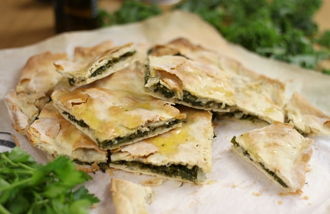 Croatian soparnik (kale pie)