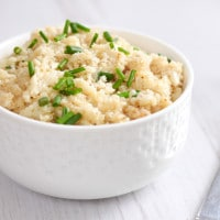 Low-carb cauliflower risotto