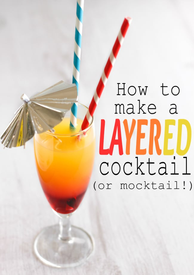 How to make a layered cocktail mocktail for Fun cocktails to make