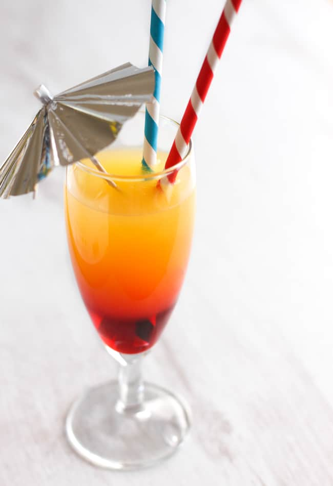 How to make a layered cocktail or mocktail - as long as you follow these rules, you can use whatever drinks and whatever colours you like!