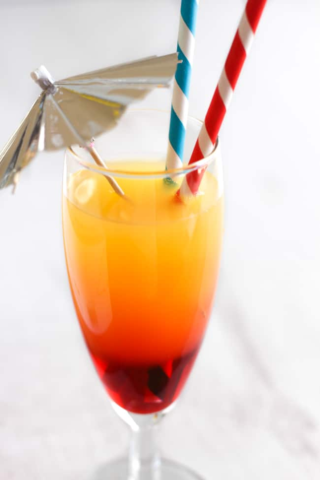 how to make a layered cocktail mocktail