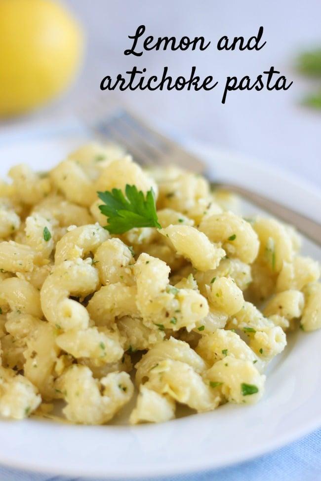 Lemon and artichoke pasta