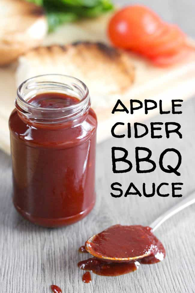 Apple cider BBQ sauce - throw your favourite cider in a pan with a few other ingredients, and within an hour you'll have an amazing homemade BBQ sauce!
