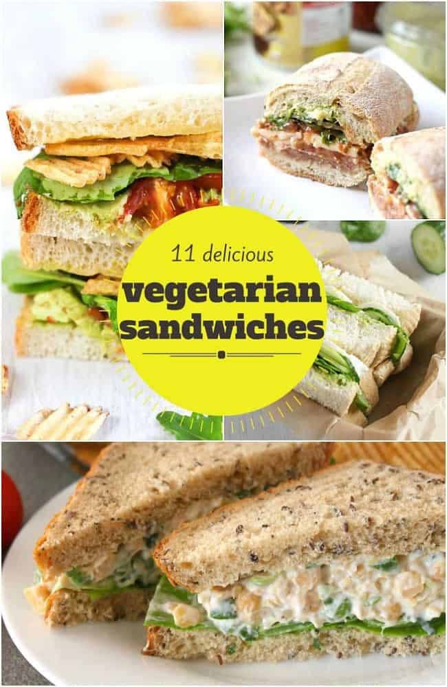 11 delicious vegetarian sandwiches