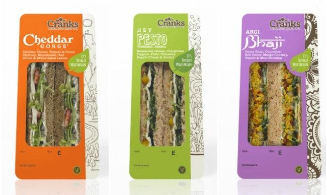 Cranks vegetarian sandwiches