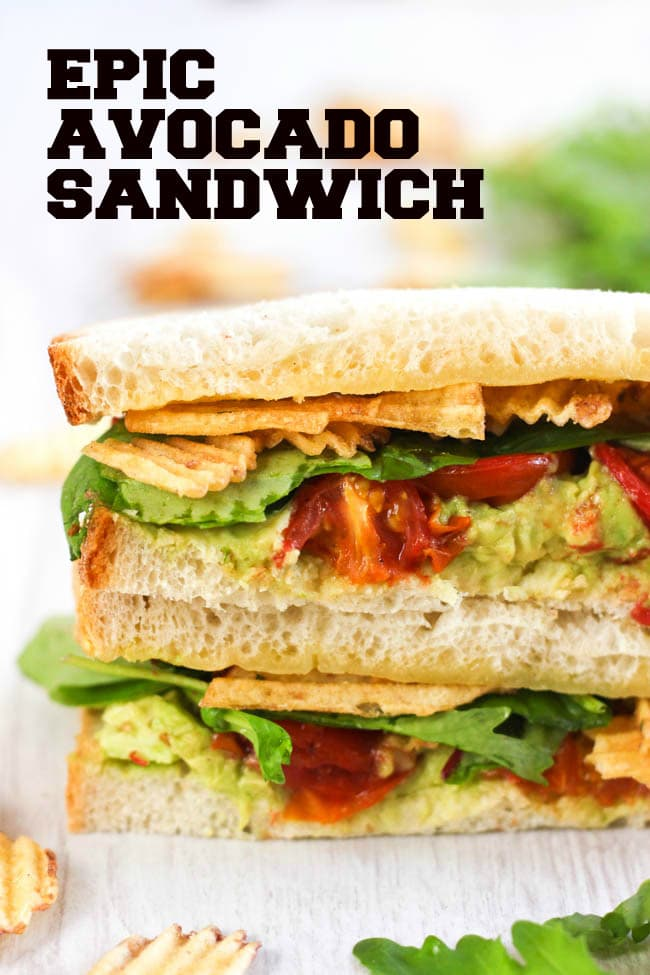 Epic Avocado Sandwich Easy Cheesy Vegetarian