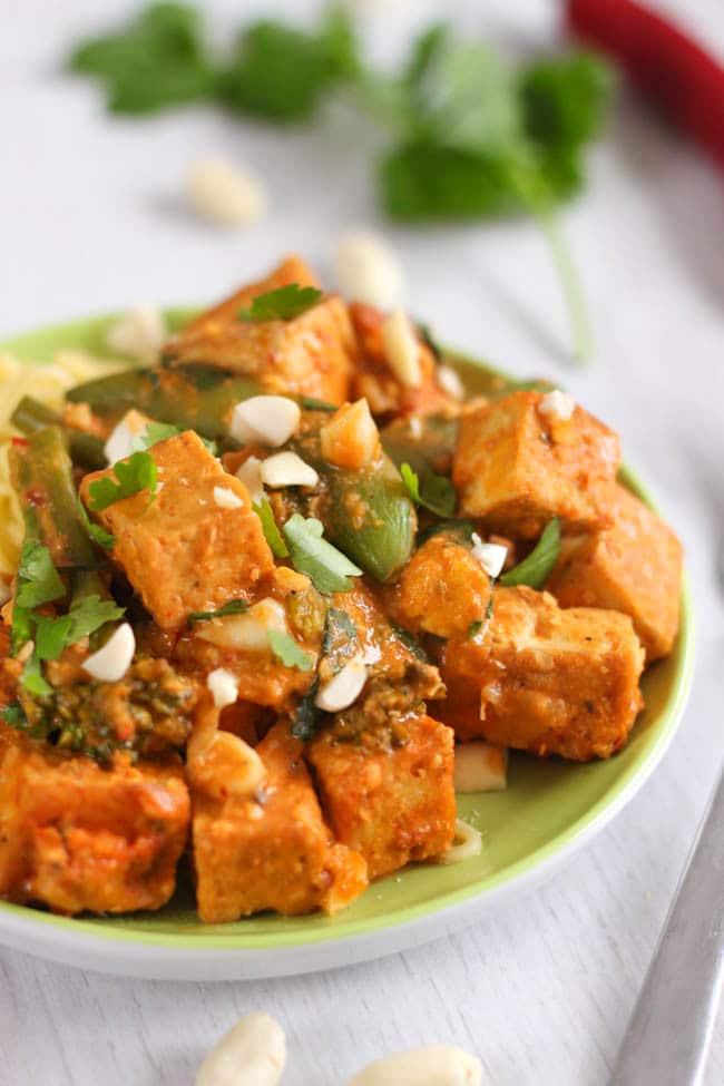 Red Thai satay tofu