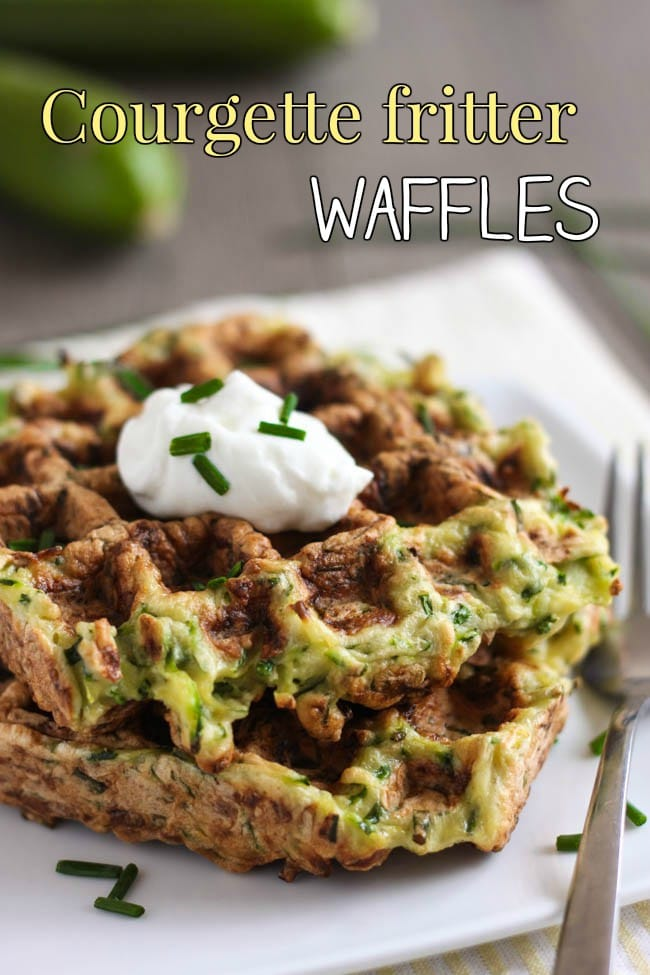 Courgette fritter waffles