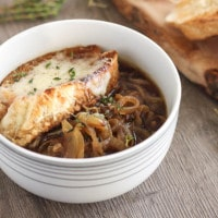Roasted French onion soup