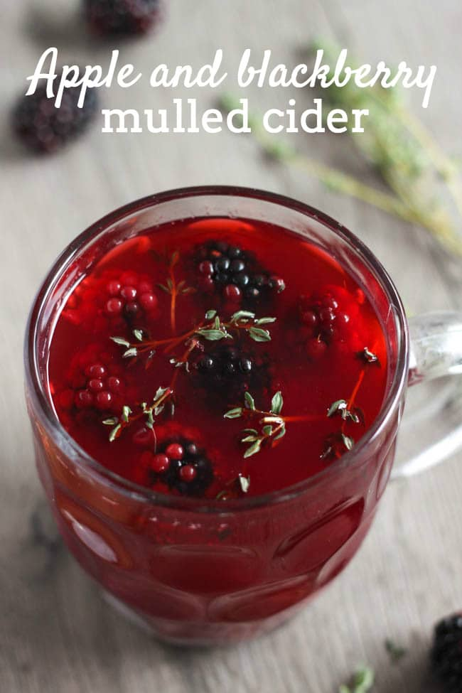 Apple and blackberry mulled cider - the perfect way to see you through a cold winter. It's super easy to make too!