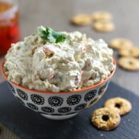Creamy Peppadew and artichoke dip