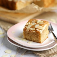 Honey and almond blondies