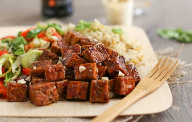 Honey soy tofu-4