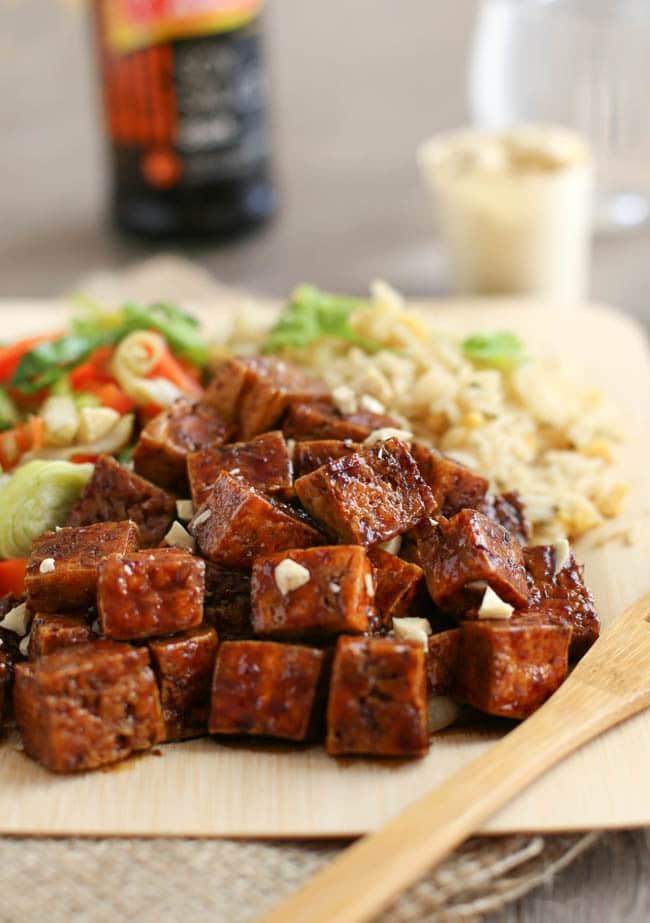 Honey soy tofu
