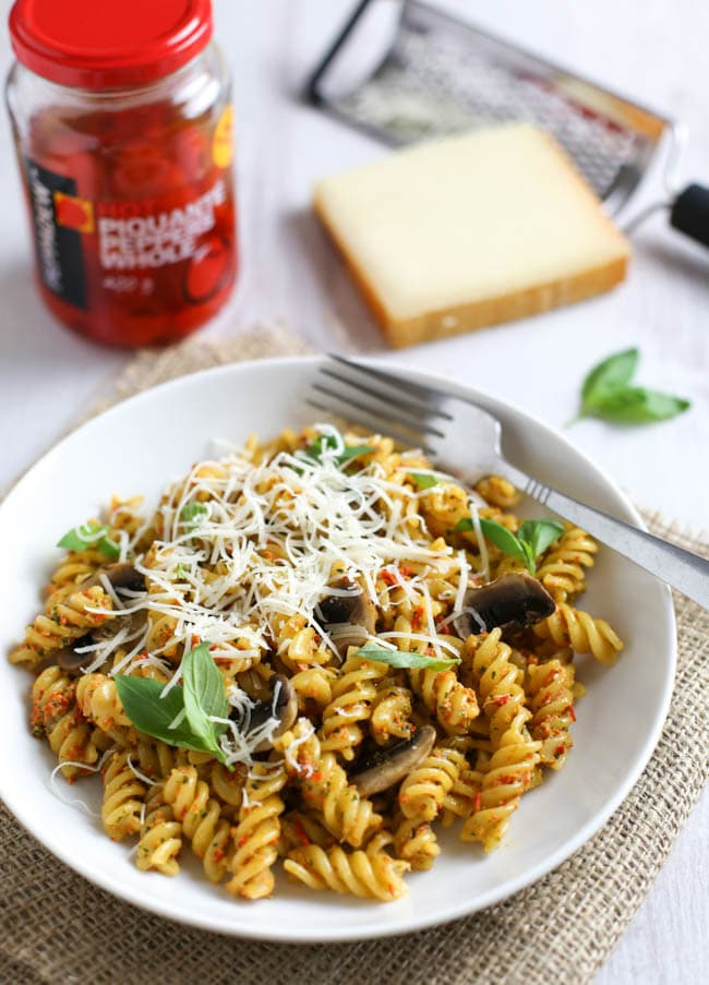 how to cook pesto pasta from a jar