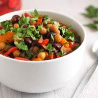 Spicy three bean soup