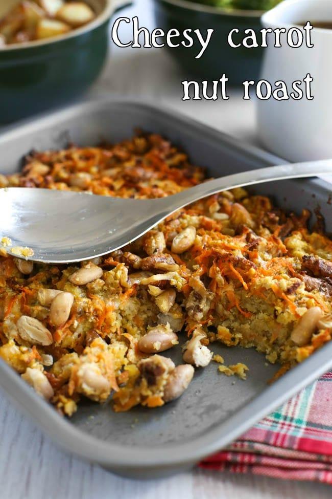 Cheesy carrot nut roast