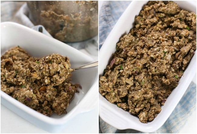 Mushroom and chestnut vegetarian stuffing - Did you know that making vegetarian / vegan stuffing could be so easy?! A must for any Christmas dinner table!