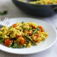 Low-carb tikka cauliflower rice