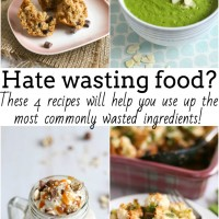 4 recipes to reduce food waste