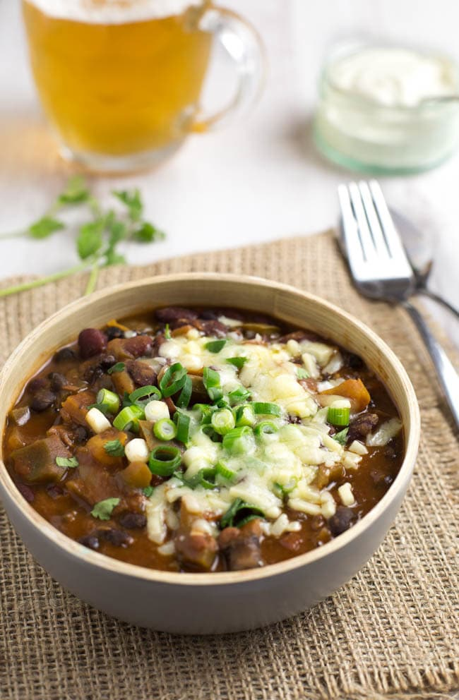 Three bean enchilada chilli