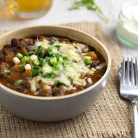 Slow cooker three bean enchilada chilli