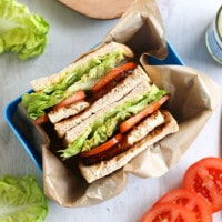 Tofu bacon BLTs