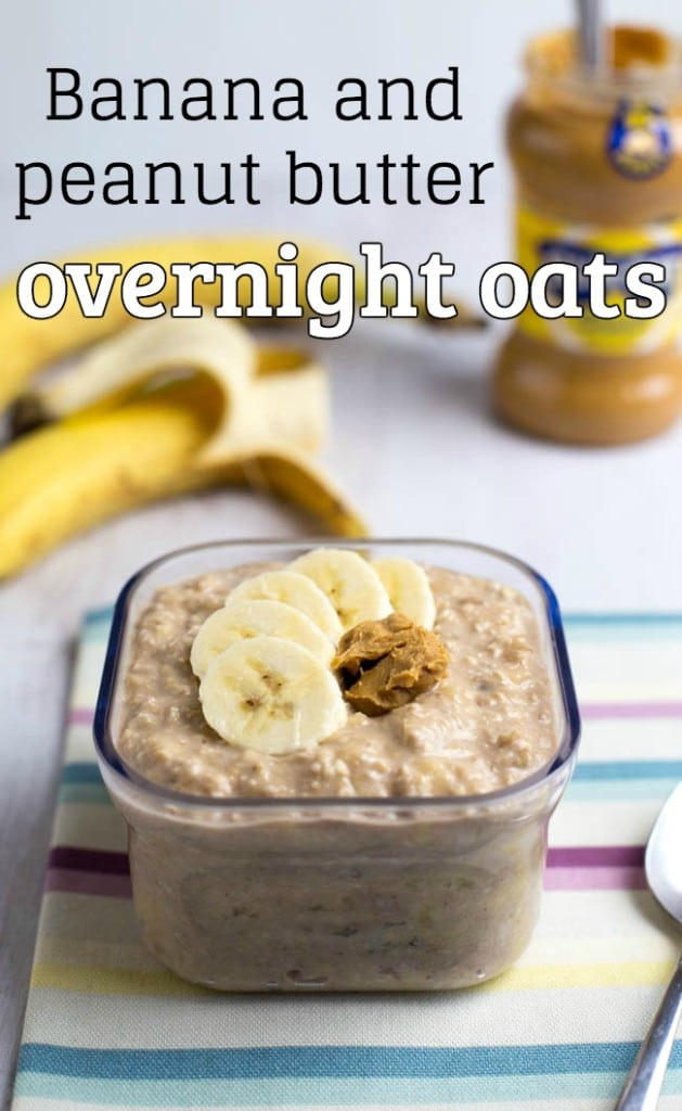 Banana and peanut butter overnight oats