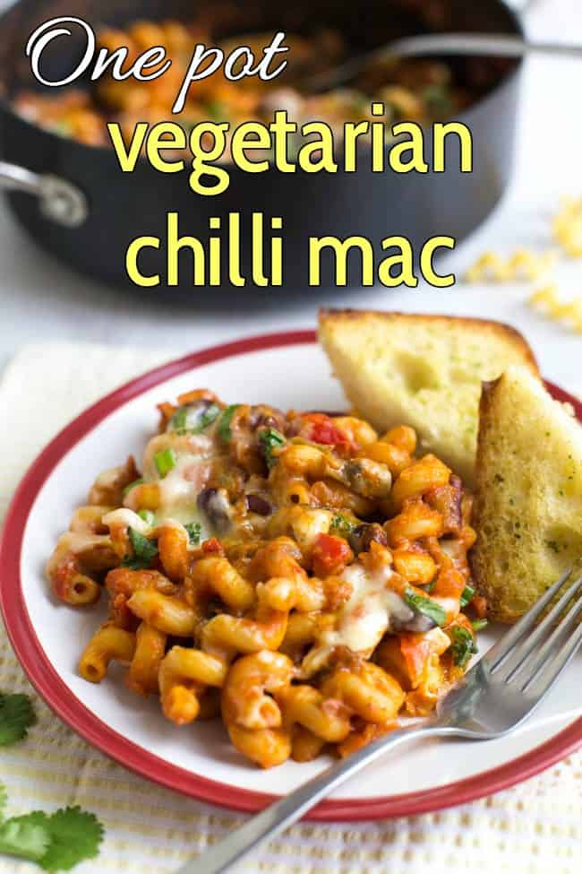 One Pot Vegetarian Chilli Mac